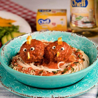 Nido de Spaguetti con Pollitos
